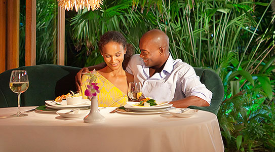 Luxury food at Couples Swept Away all inclusive resort