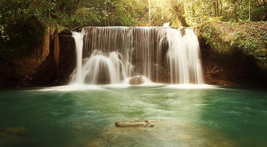 Luxury waterfall excursion included at Couples Swept Away all inclusive resort