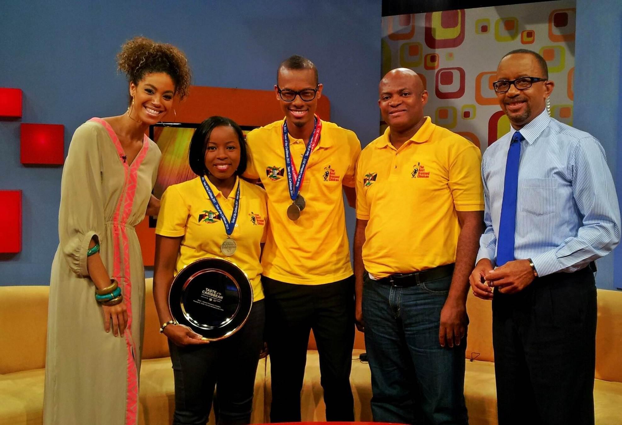 Teresa Clarke and her Jamaican team receive award