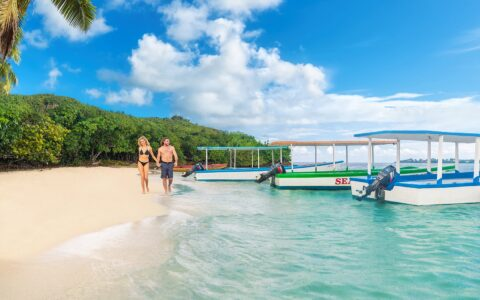 Island off Couples Swept Away