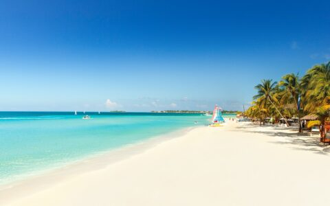 beach with beautiful turquoise water