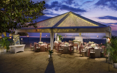 Couples Swept Away: Sunset Beach Wedding